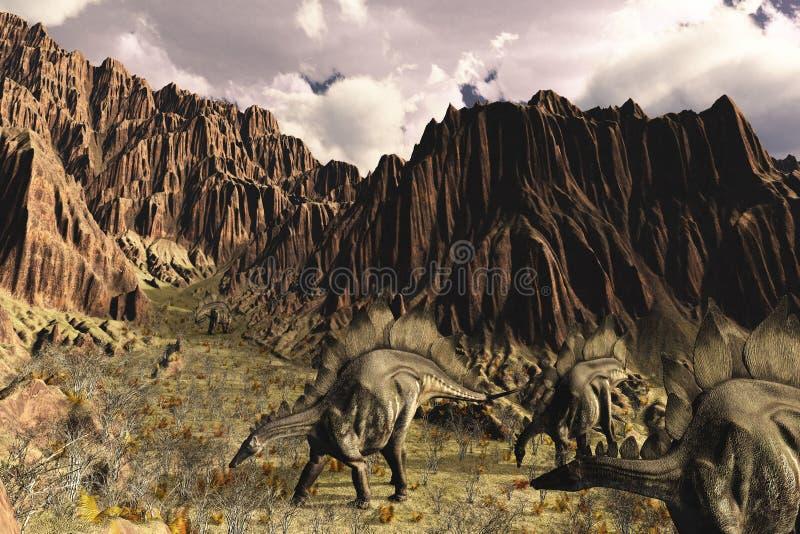 Stegosaurusmiddag stock illustratie