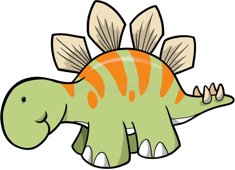 stegozaur dinozaura ilustracji