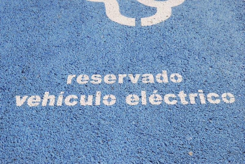 Aufladenstand des elektrischen Fahrzeugs. Barcelona. Spanien stockfoto