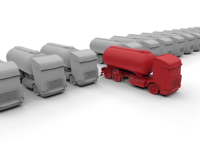 Stehen Sie heraus von der Menge - LKWs stock abbildung