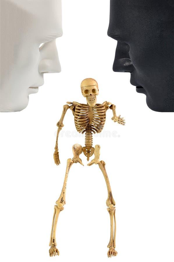 Stehende Aktion des Skeleton Knochens, menschliches Verhalten stockfoto