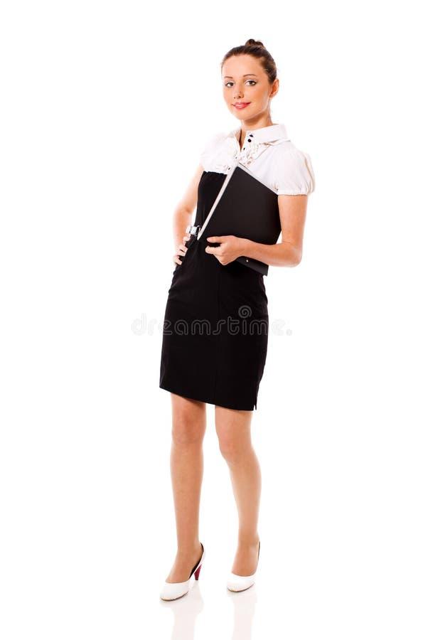 Stehende Geschäftsfrau lizenzfreies stockfoto