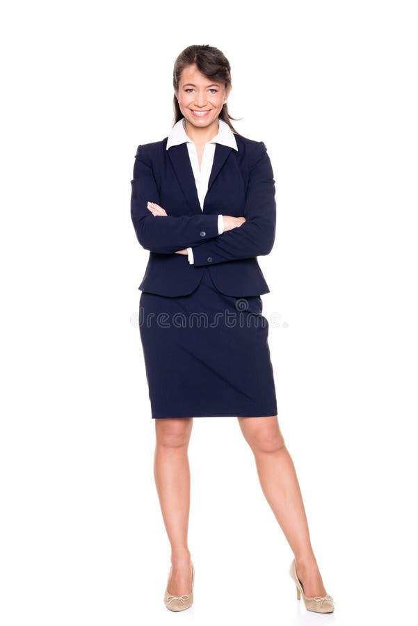 Stehende Geschäftsfrau lizenzfreie stockbilder