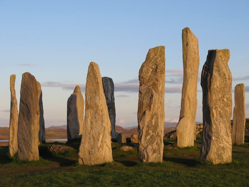 Stehende Steine bei Callanish stockfotografie