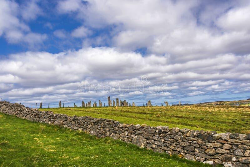 Stehende Steine Callanish, Insel von Lewis, Schottland lizenzfreie stockbilder