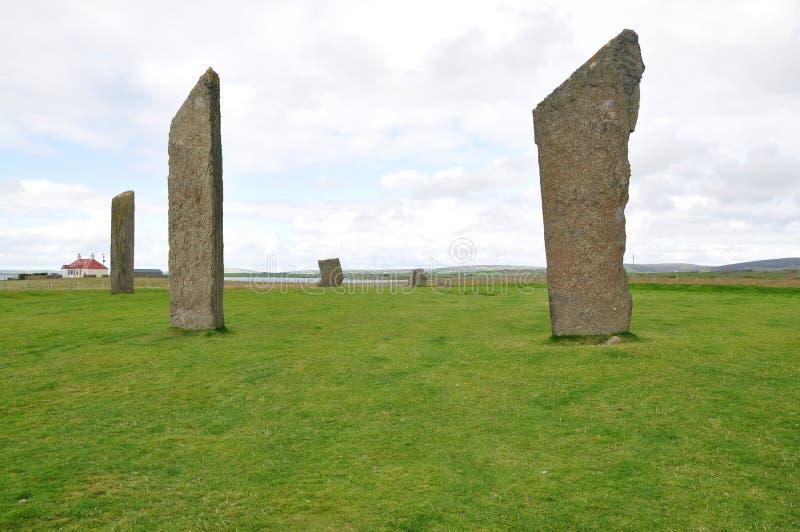 Stehende Steine von Stenness stockbild
