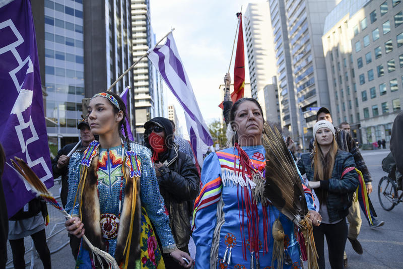 Stehender Felsenprotest in Toronto stockfoto