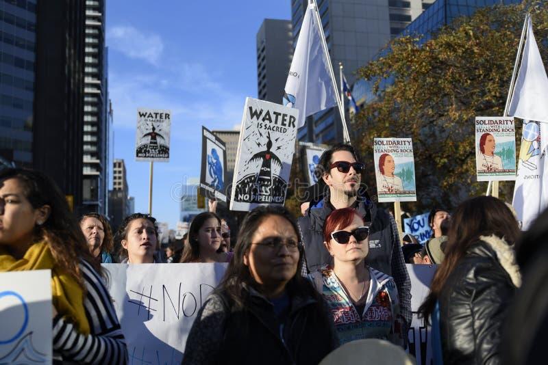 Stehender Felsenprotest in Toronto lizenzfreies stockfoto
