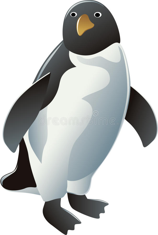Stehender Pinguin vektor abbildung