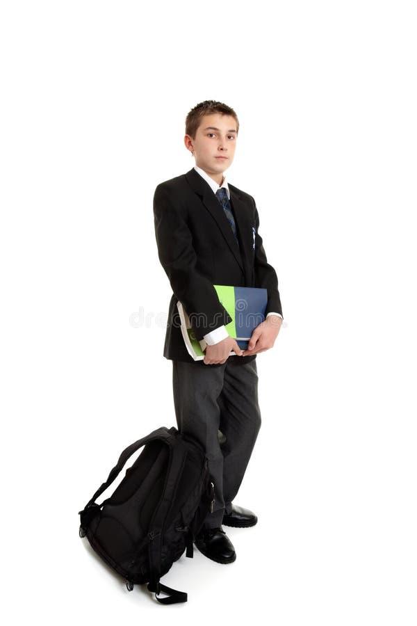 Stehender Schulekursteilnehmer lizenzfreie stockfotografie