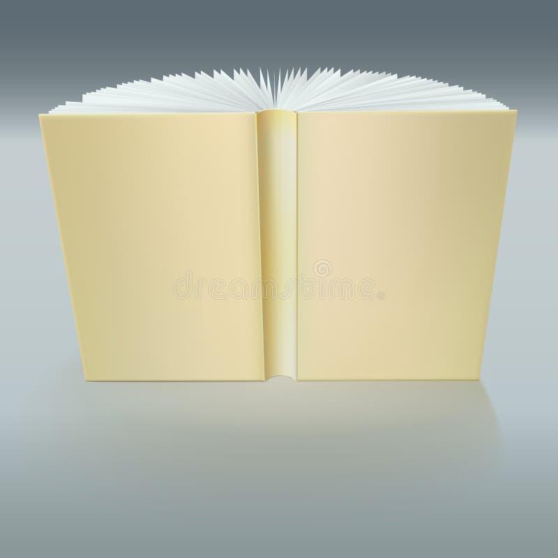 Stehendes offenes Buch mit Seiten vektor abbildung