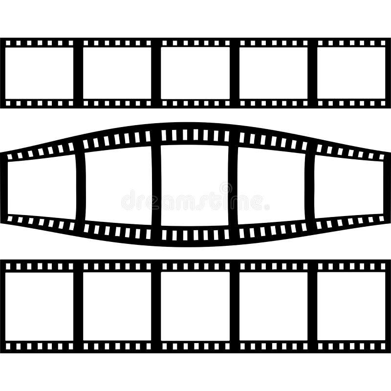 Stehfilm eingestellt mit drei verschiedenen Versionen des Filmes vektor abbildung