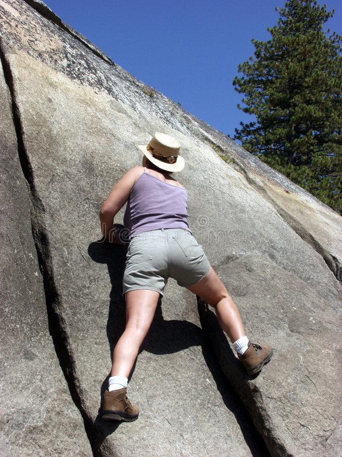 Steigen Der Felsen Stockfotografie
