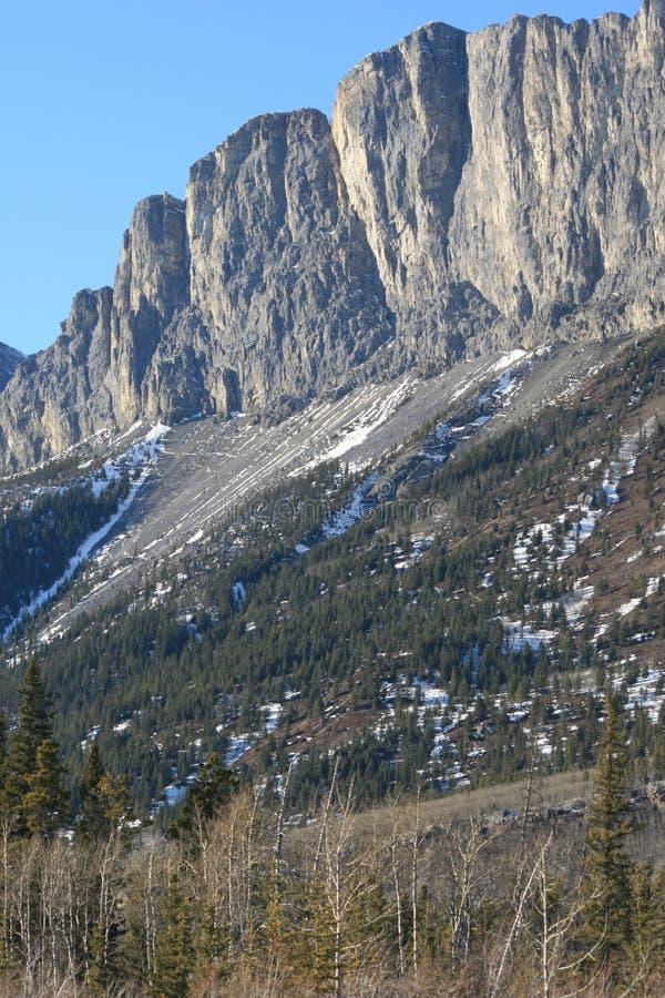 Steigen der felsigen Berge, Kanada lizenzfreie stockfotografie