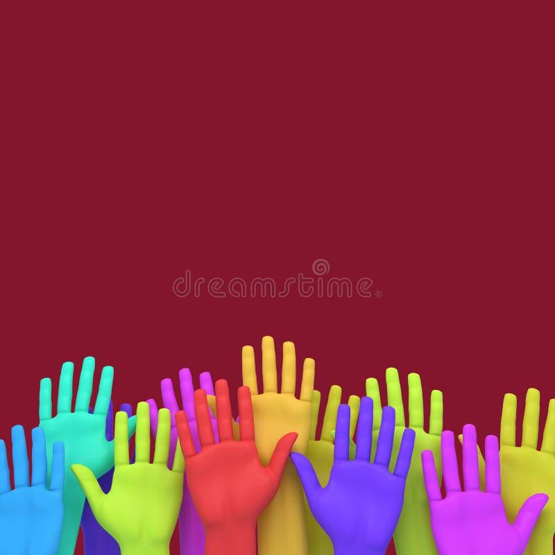 Steigen Ihre Hand stockfotografie