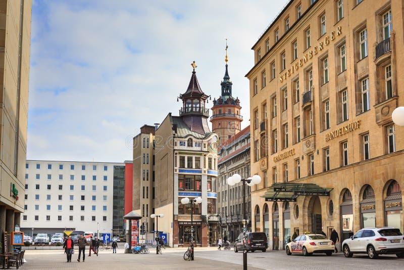 Steigenberger Grandhotel Handelshof von Leipzig lizenzfreie stockfotos