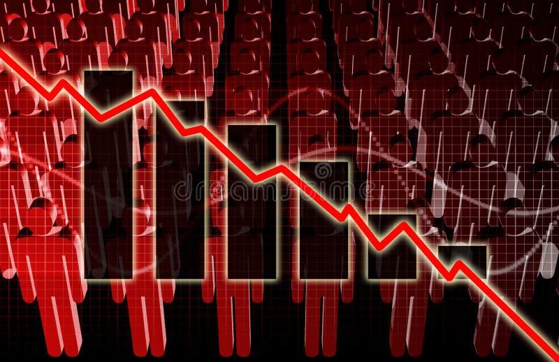 Steigende Arbeitslosigkeit vektor abbildung