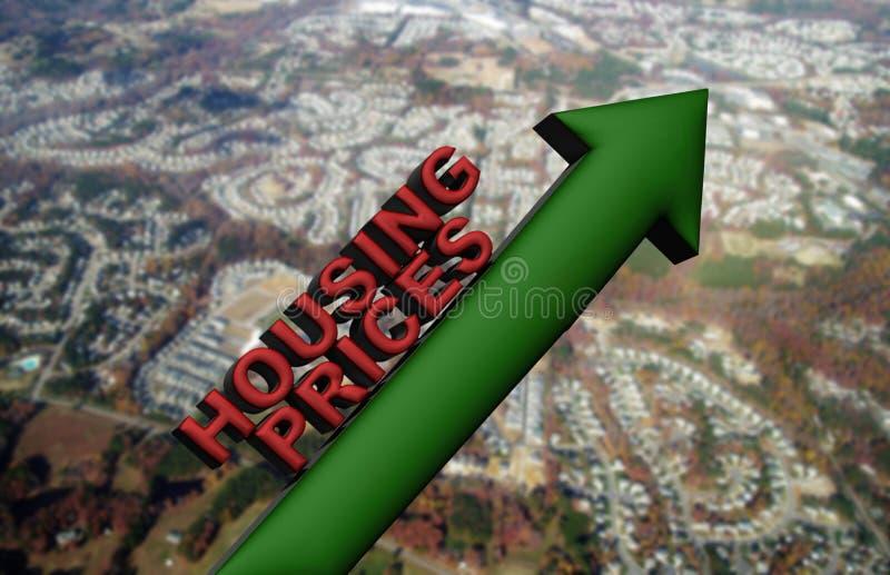 Steigende Hauspreise lizenzfreie abbildung