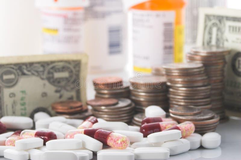 Steigende Kosten Gesundheitspflege stockbild