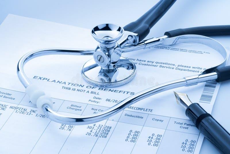 Steigende medizinische Kosten stockbild