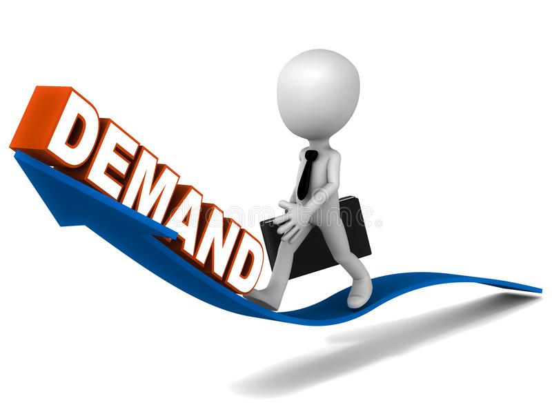 Steigende Nachfrage stock abbildung