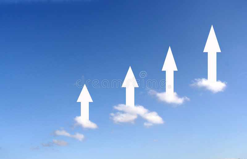 Steigende Wolken stock abbildung