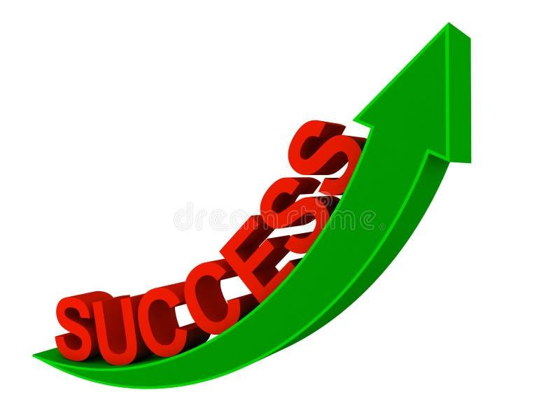 Steigender Erfolg stock abbildung