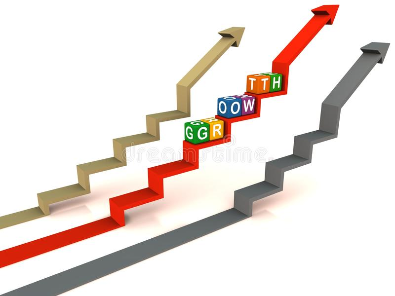 Steigender Index des Wachstums vektor abbildung