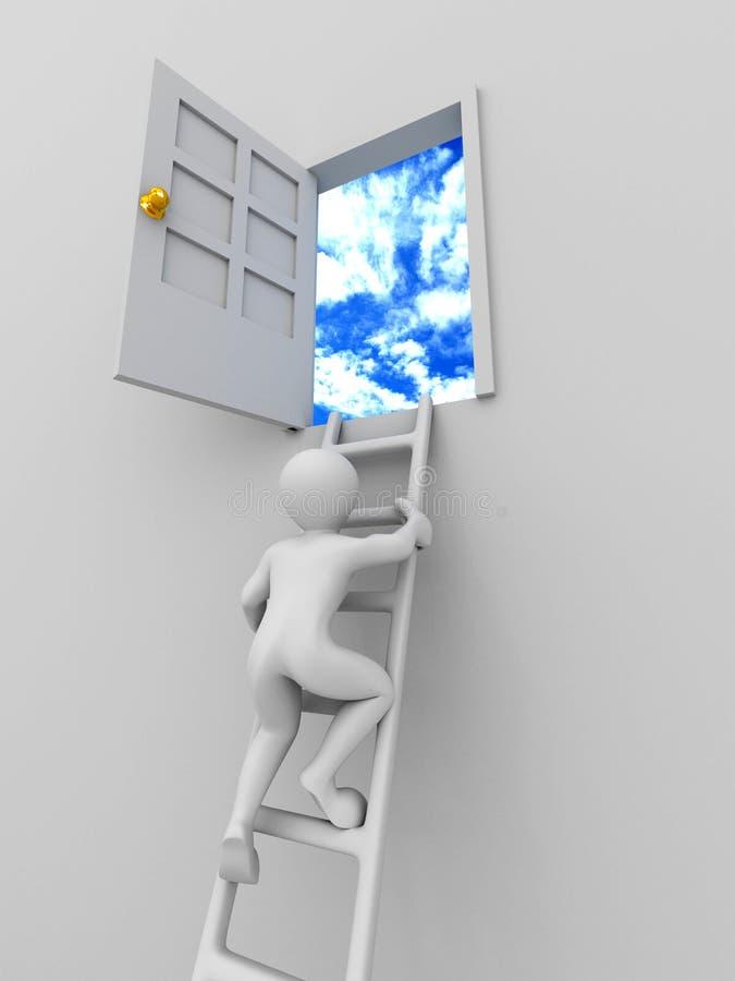 Steigender Mann die Treppen lizenzfreie abbildung