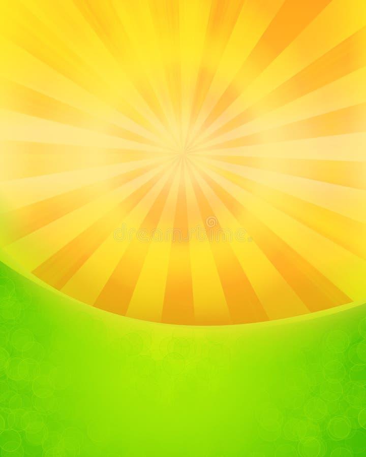 Steigender Sun stock abbildung