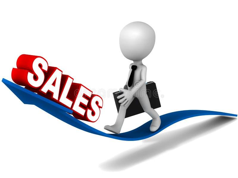 Erhöhen Sie Verkäufe lizenzfreie abbildung