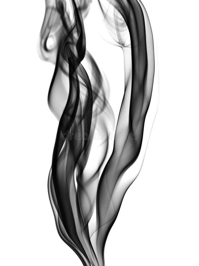 Steigernder schwarzer Rauch stockfotos