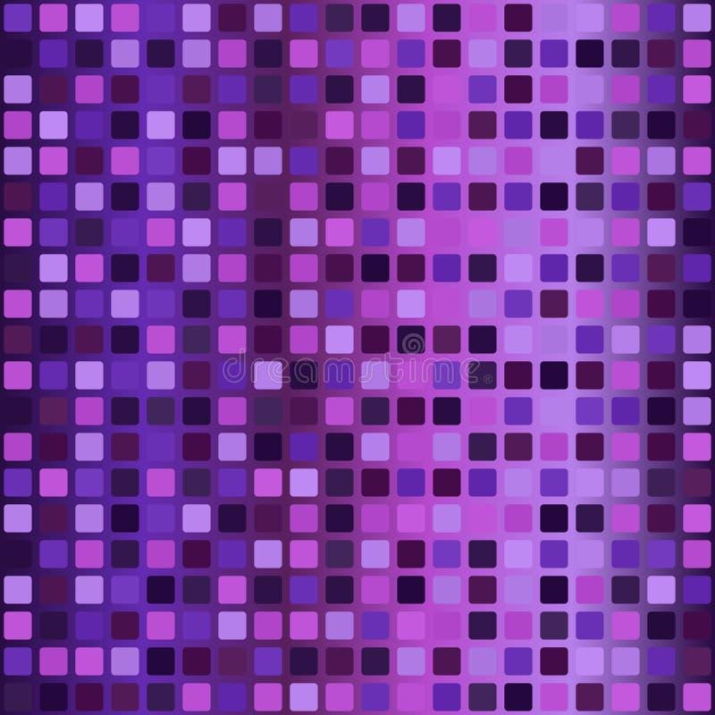 Steigung rundete quadratisches Muster Nahtloser vektorhintergrund vektor abbildung