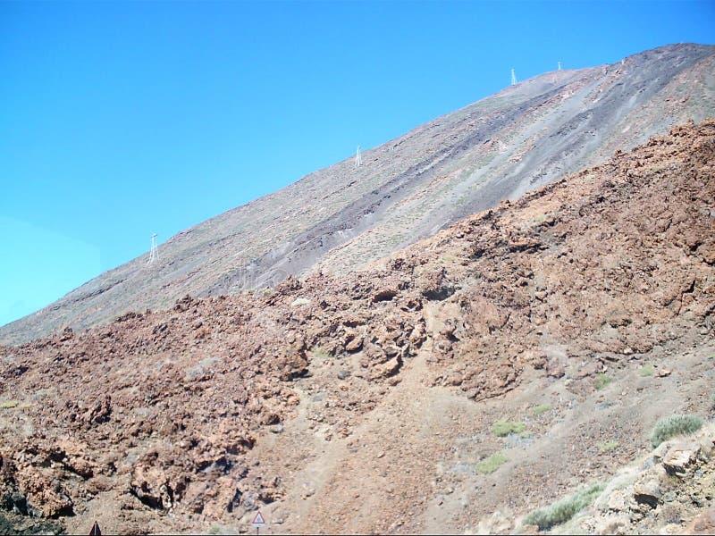 Steigung von Vulkan teide Teneriffa stockbild