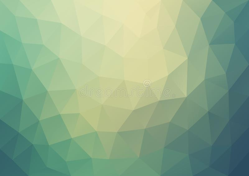 Steigungs-gelbes blaues Muster geometrisch lizenzfreie abbildung