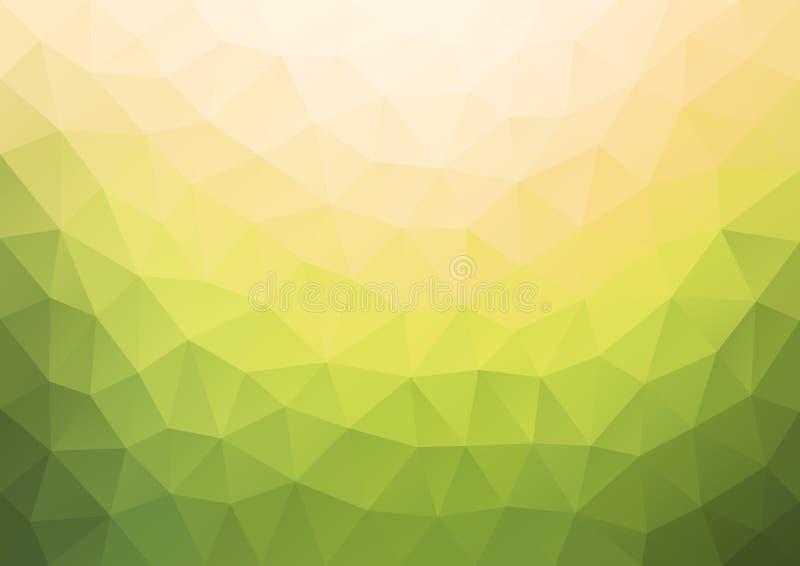 Steigungs-gelbes Muster geometrisch vektor abbildung