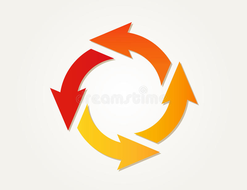 Steigungskreispfeile stock abbildung