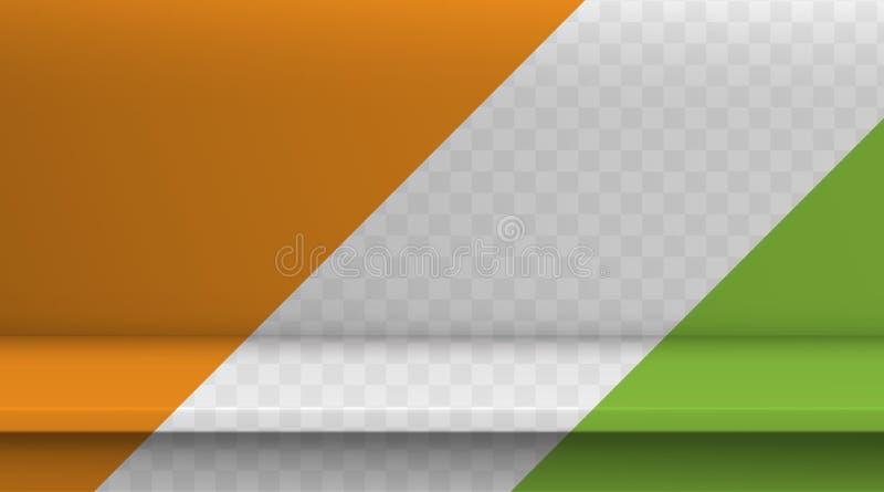 Steigungsmaschen-Vektortabelle Hintergrund der leeren klaren transparenten Farbtabelle, Studioraum annoncieren für Ihre Geschäfts lizenzfreie abbildung