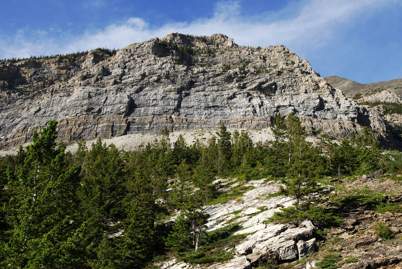 Steile helling van berg stock afbeelding