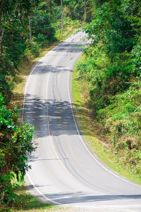 Steile landweg stock foto's