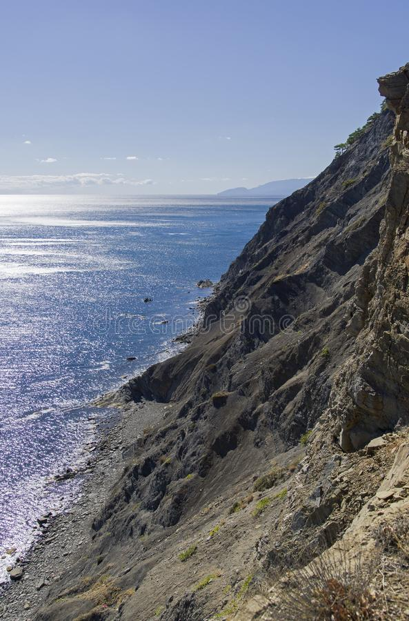 Steile Seeküste Krim stockfoto