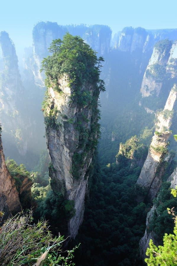 Steile steenberg bij zhangjiajie royalty-vrije stock foto