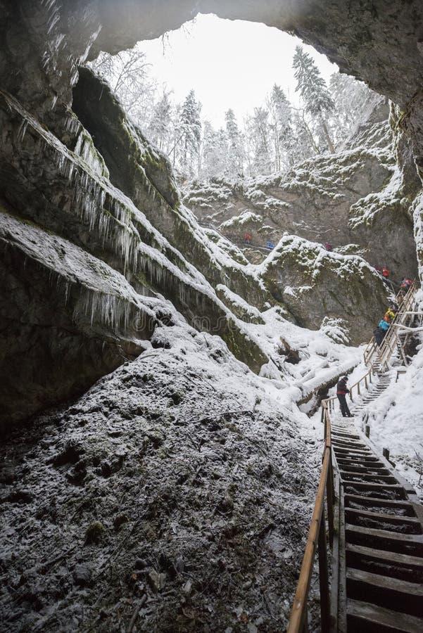 Steile uitgang van een hol stock foto's