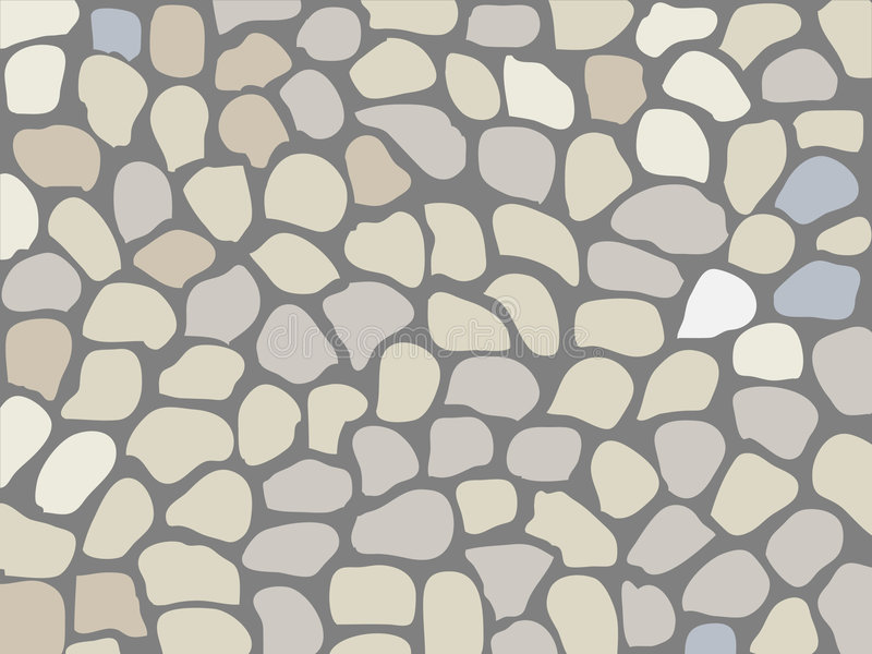Stein. Background, roadway paved by a stone. Stone surface (wall or road royalty free illustration