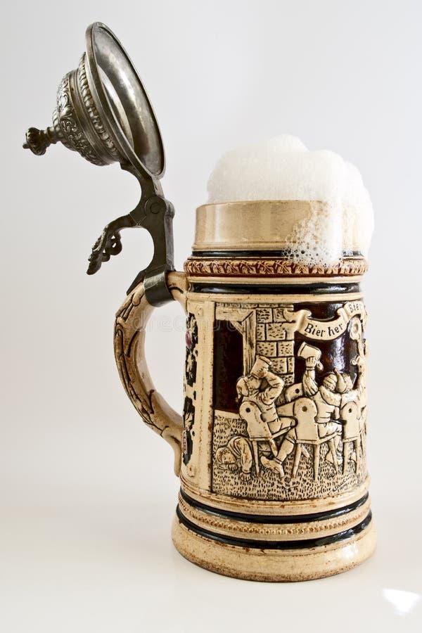 Stein bavarese della birra fotografia stock libera da diritti