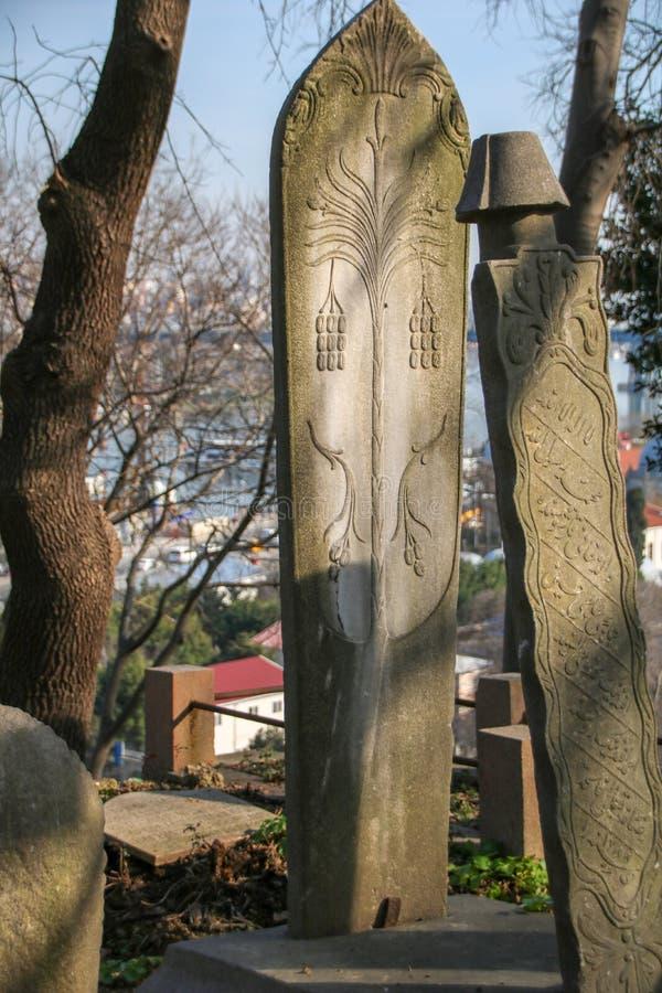 Stein des alten Grabs, der Osmanezeitraum, die Türkei lizenzfreie stockfotografie