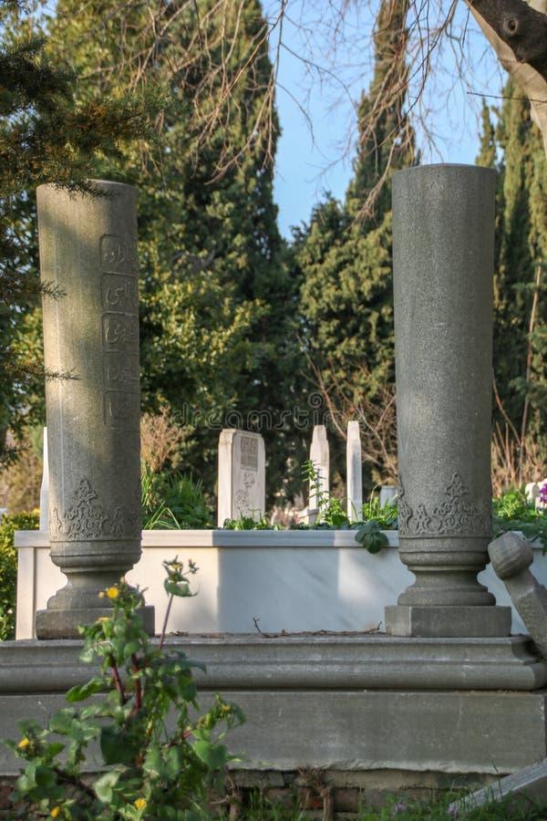 Stein des alten Grabs, der Osmanezeitraum, die Türkei lizenzfreies stockbild