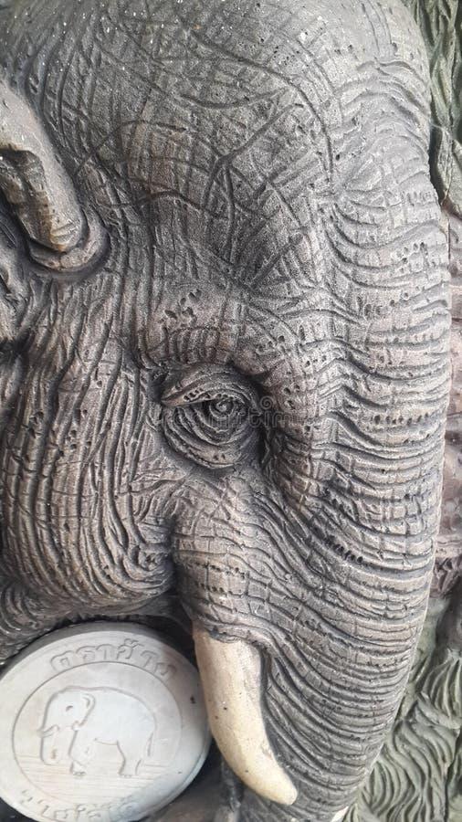 Stein geschnitzter Elefant stockfotos