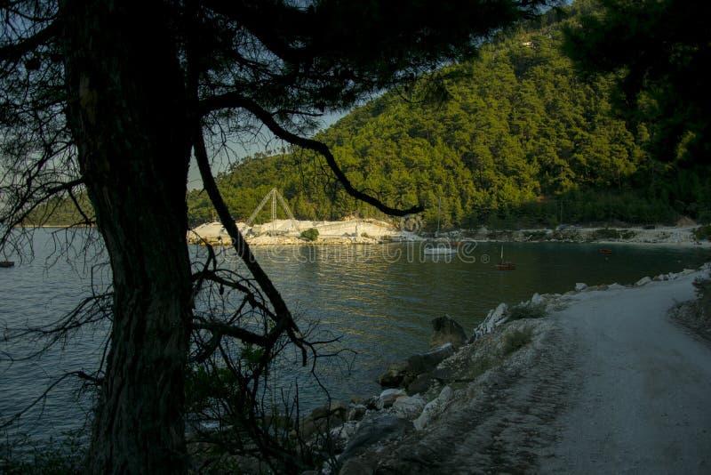 Stein-Grube in einer griechischen Insel, Thasos stockfoto