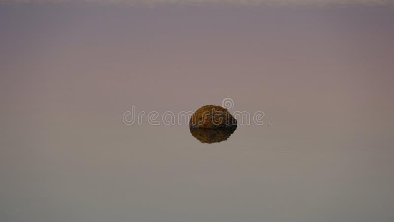 Stein im Wasser der Mündung des Kuyalnik lizenzfreie stockbilder
